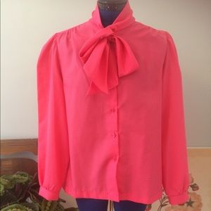 Vintage Pussy Bow Blouse